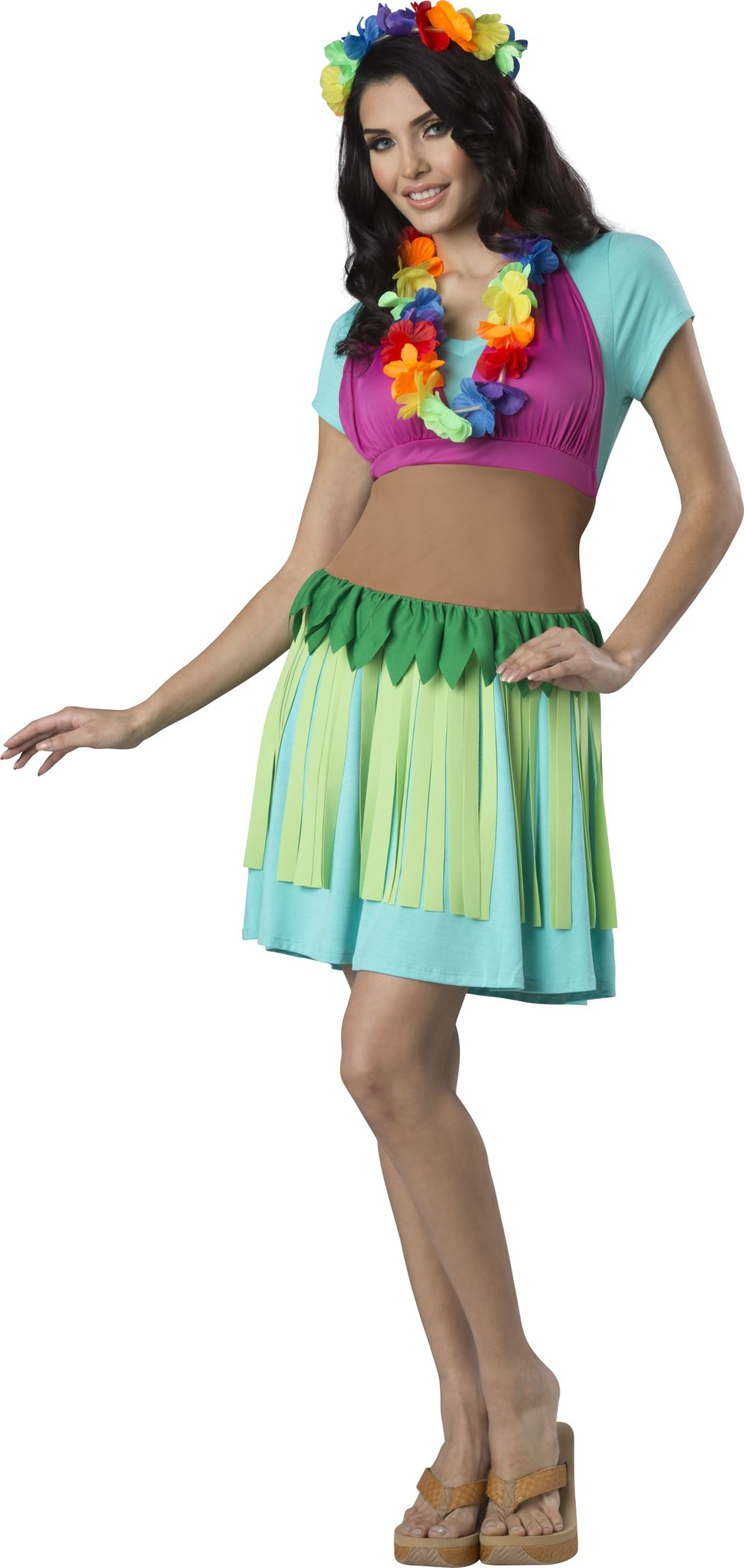 Adult Hawaiian Hula Apron Costume   $24.99   The Costume Land
