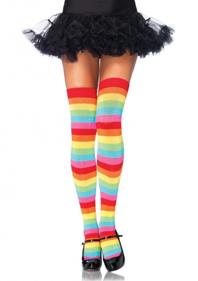 фото девушек в цветных чулках