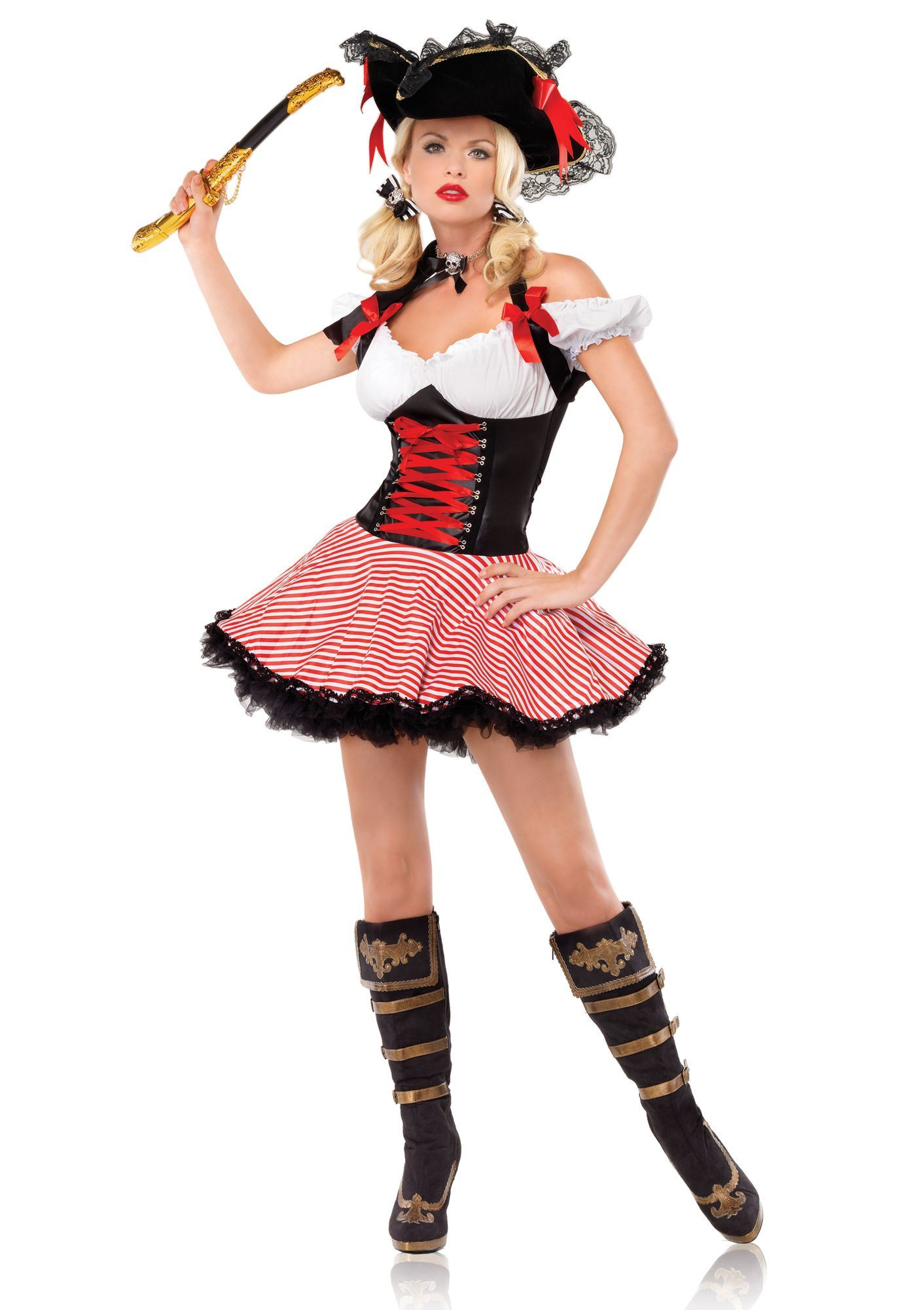 Adult Pirate Wench Halter Woman Costume