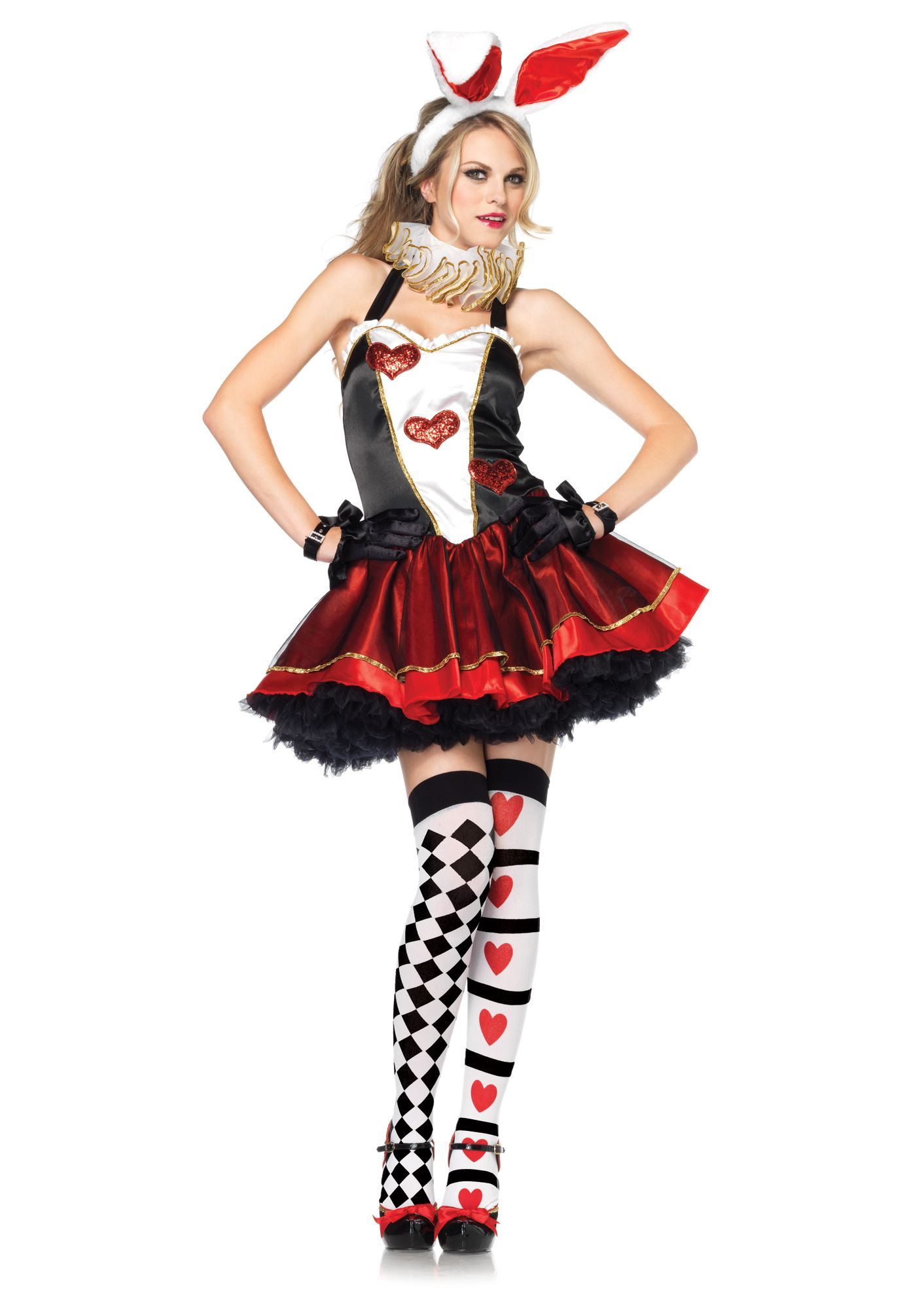 adult tea party bunny woman costume the costume land. Black Bedroom Furniture Sets. Home Design Ideas