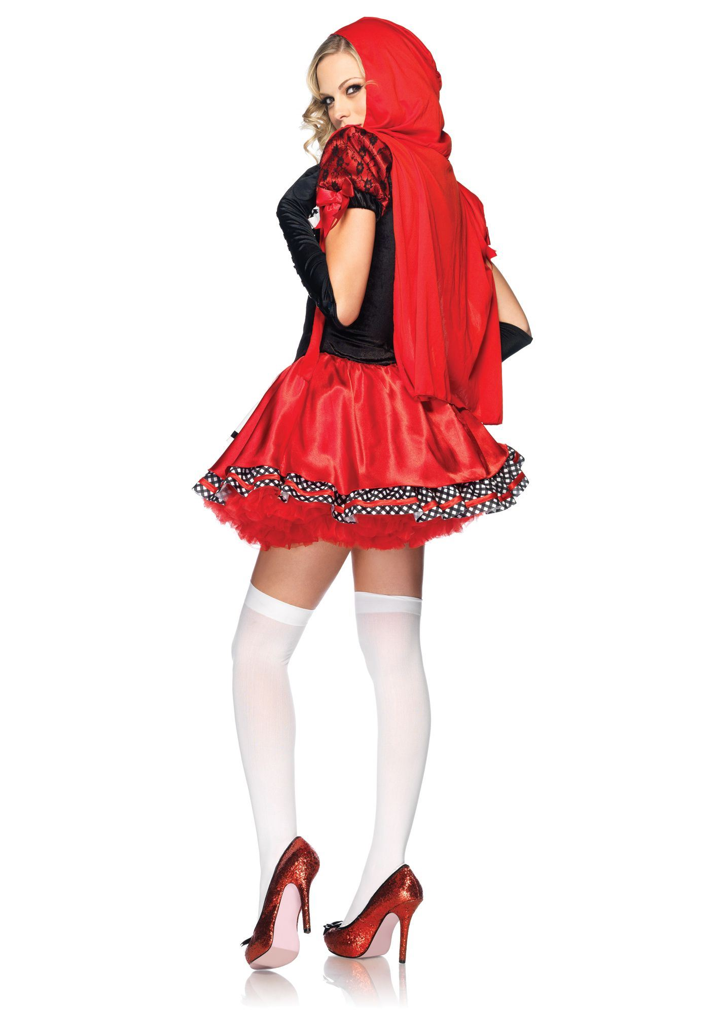 Adult Divine Miss Red Riding Woman Costume