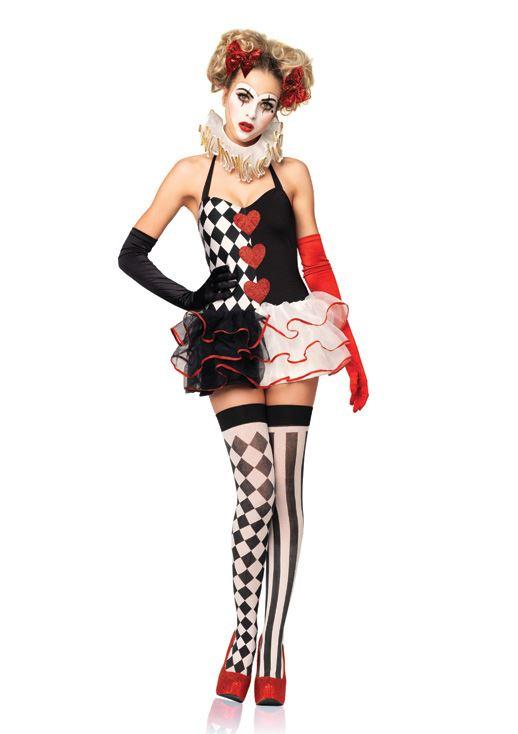 Adult Sweetheart Harlequin Women Circus Clown Costume ...  sc 1 st  The Costume Land & Adult Sweetheart Harlequin Women Circus Clown Costume | $37.99 | The ...