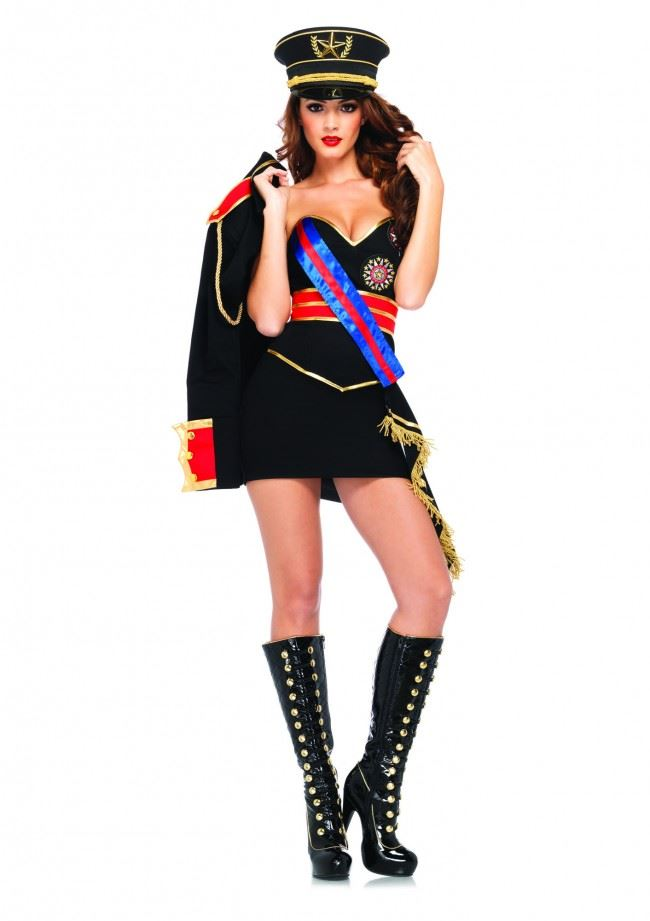 adult diva dictator women army costume adult diva dictator women army costume - Halloween Army Costumes