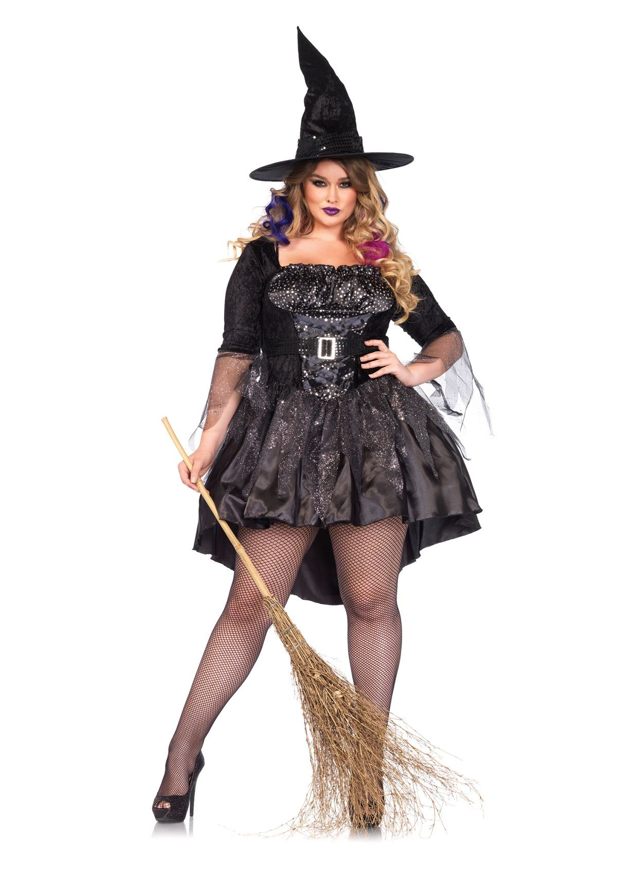 Adult Witch Black Magic Mistress Woman Costume ...  sc 1 st  The Costume Land & Adult Witch Black Magic Mistress Woman Costume | $43.99 | The ...