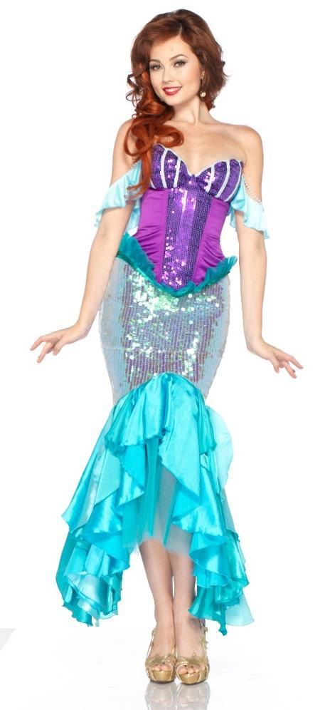 Adult Disney Princess Ariel Woman Mermaid Costume ...  sc 1 st  The Costume Land & Adult Disney Princess Ariel Woman Mermaid Costume | $136.99 | The ...