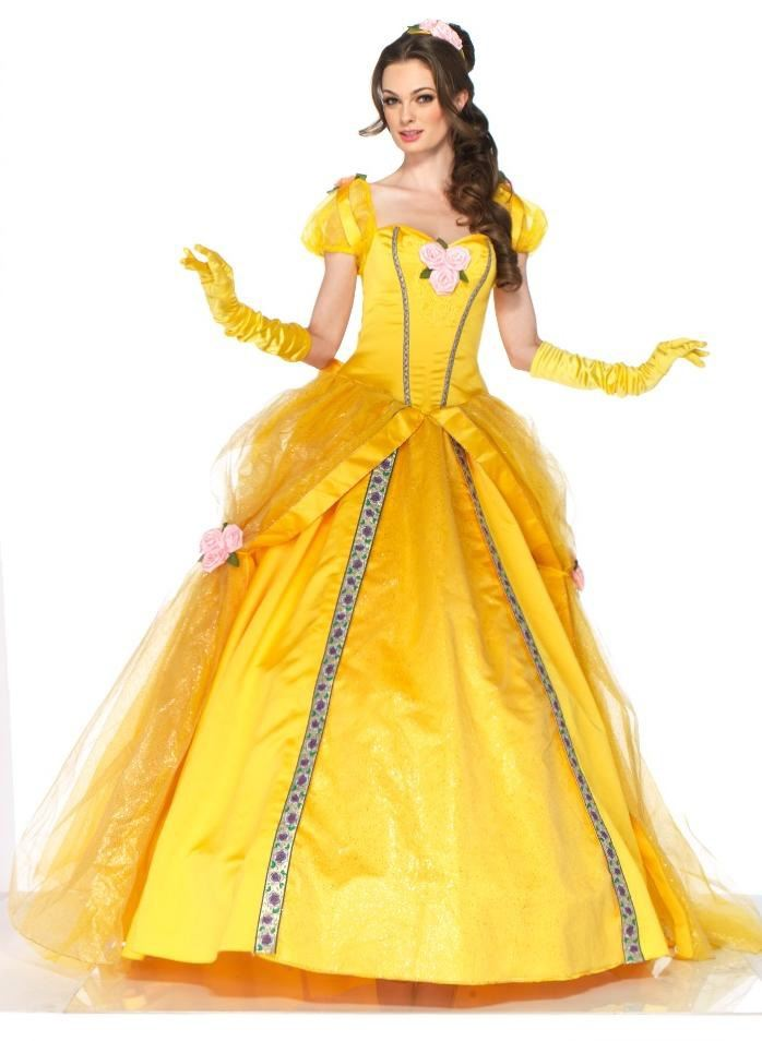 Disney Princess Belle Beauty And Beast Woman Deluxe Halloween CostumePrincess Belle Costume