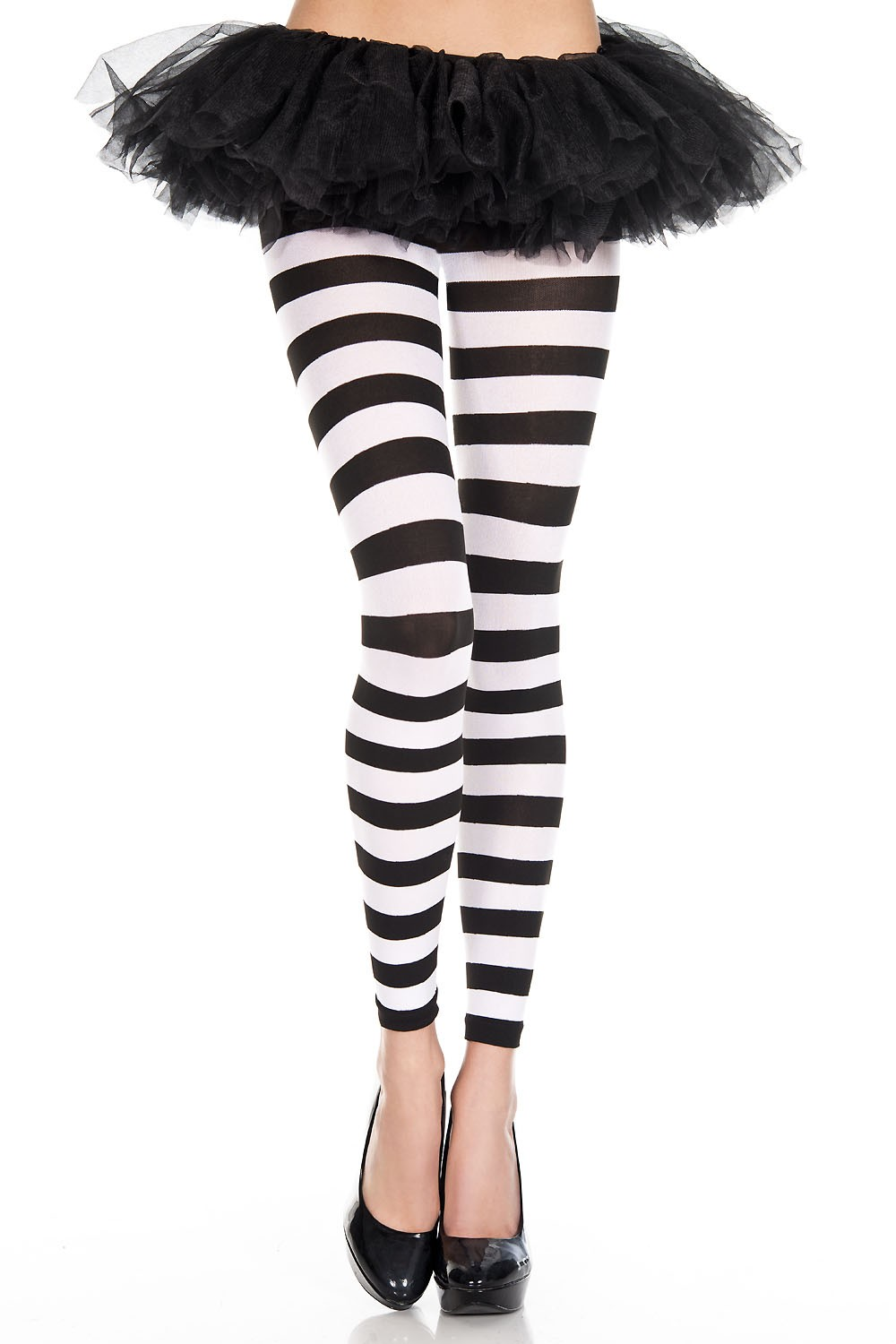 Adult Striped Leggings Black And White 5 99 The Costume Land