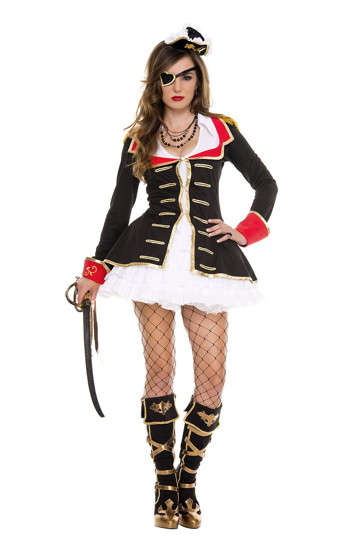 Adult Cute Captain Woman Pirate Costume ...  sc 1 st  The Costume Land & Adult Cute Captain Woman Pirate Costume | $58.99 | The Costume Land