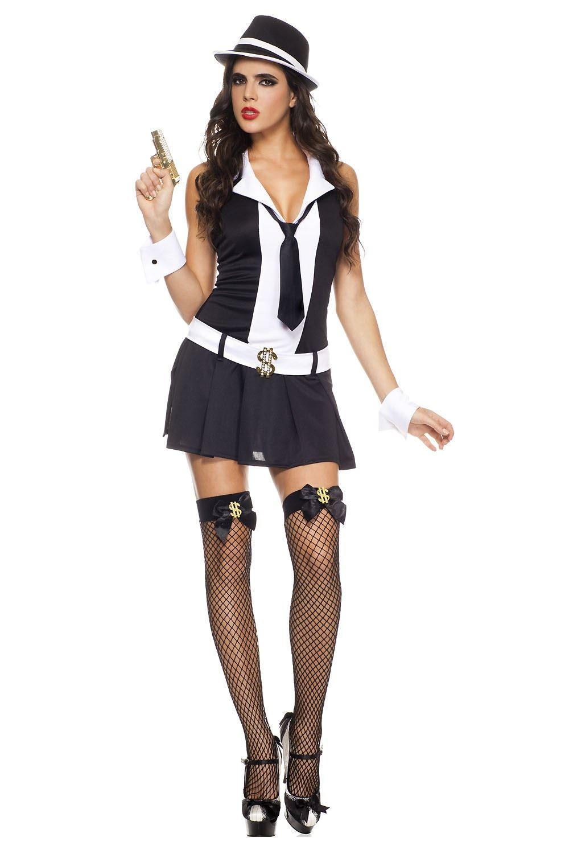adult gangsta honey woman costume - Female Gangster Halloween Costumes