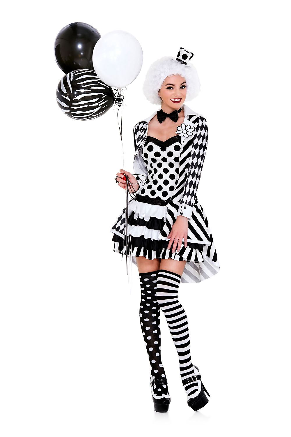 Adult Circus Damned Woman Clown Costume ...  sc 1 st  The Costume Land & Adult Circus Damned Woman Clown Costume   $43.99   The Costume Land
