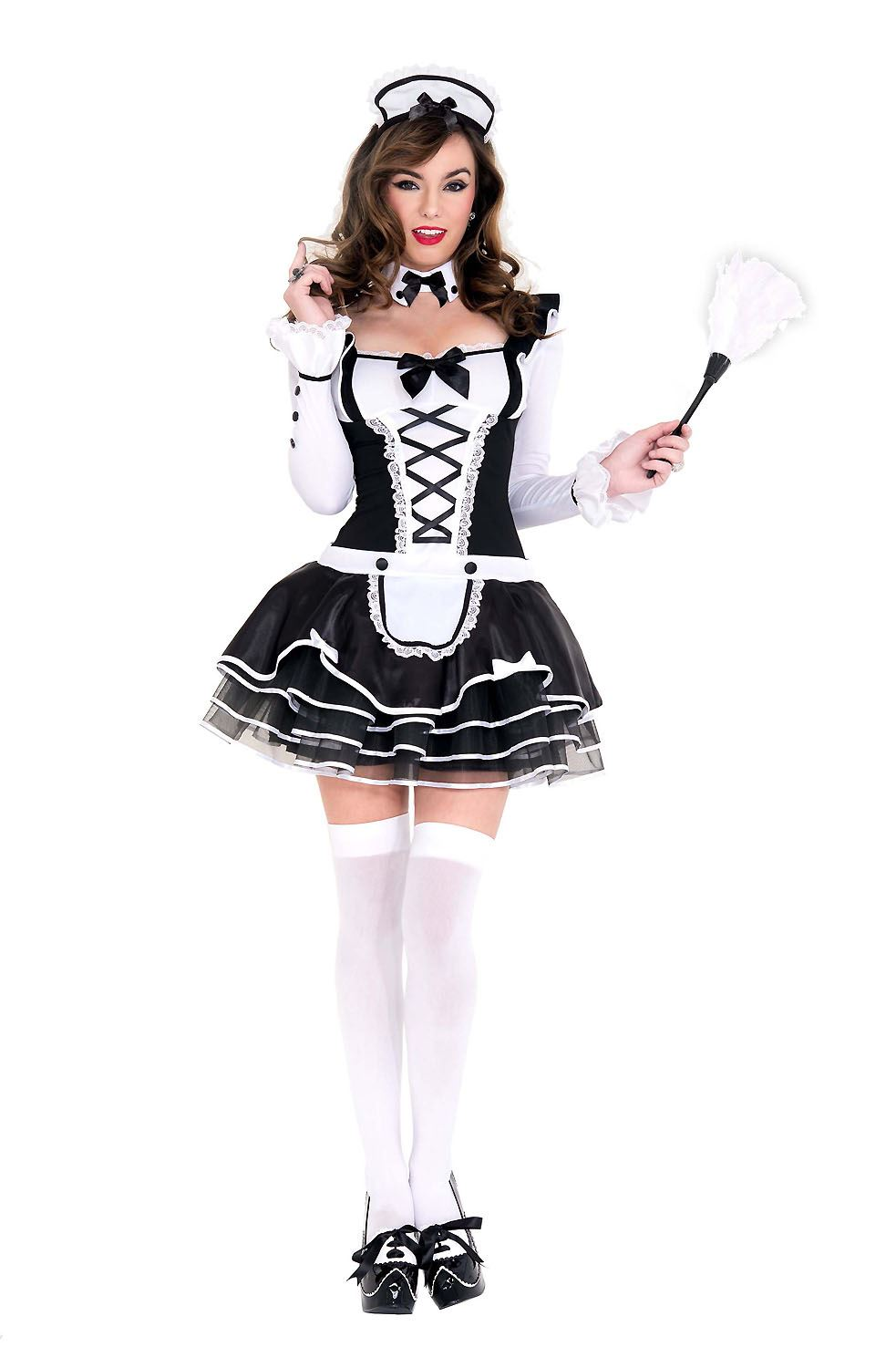 Adult Pretty French Maid Woman Costume | $49.36 | The ...