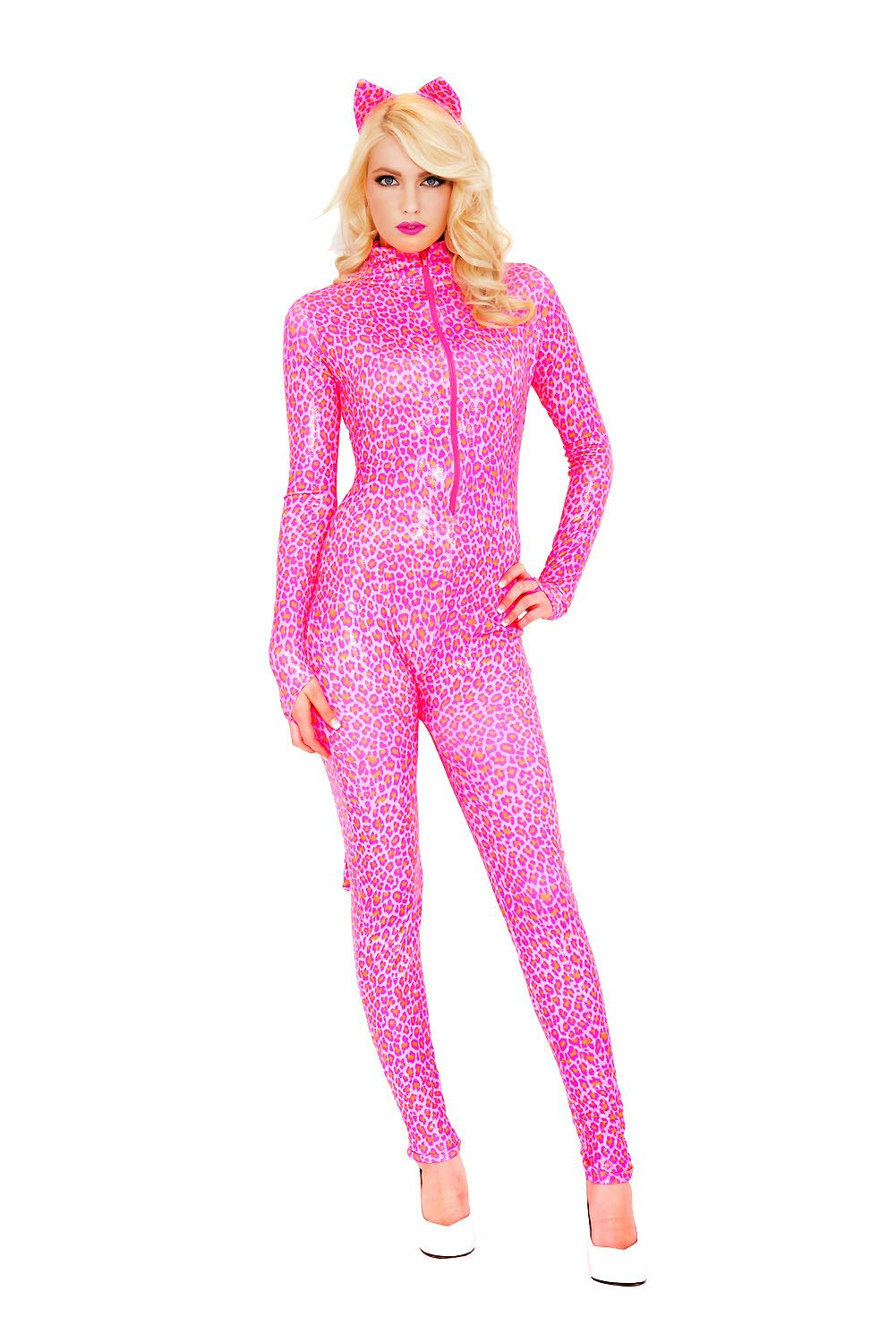 c15dd25c2d0c ... Adult Pink Cheetah Woman Costume. Click here to view Large Image