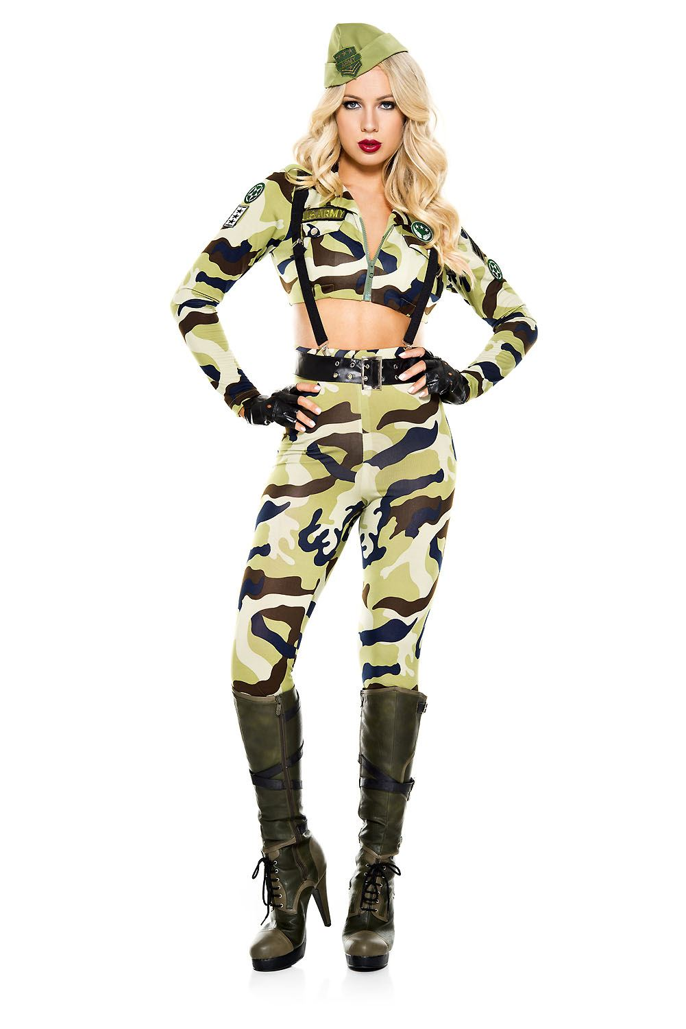 adult commando soldier woman army costume - Halloween Army Costumes