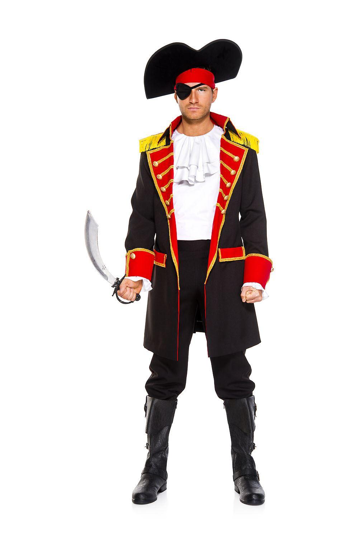 adult pirate captain men costume