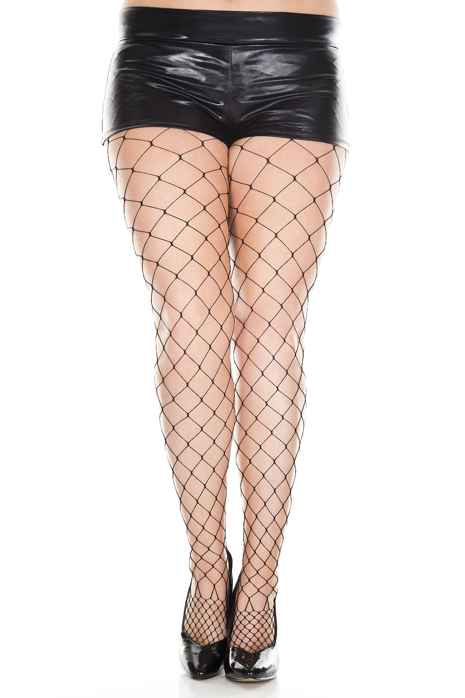 Plus size white-black tights - Virivee Tights - Designed