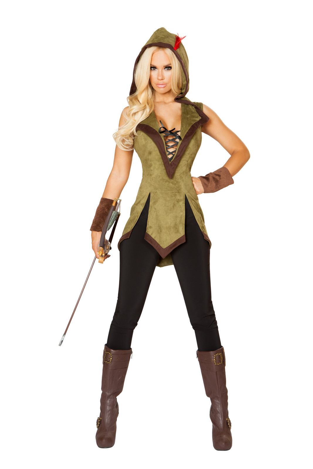 adult hooded outlaw woman costume the costume land. Black Bedroom Furniture Sets. Home Design Ideas