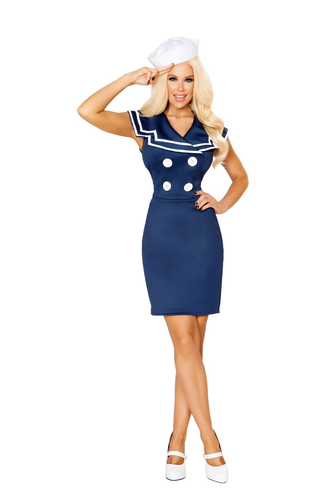 Adult Classy Sailor Woman Costume ...  sc 1 st  The Costume Land & Adult Classy Sailor Woman Costume | $51.99 | The Costume Land