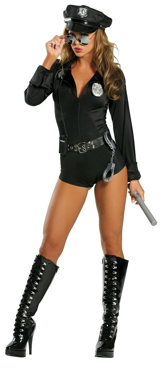 Adult cop costume can