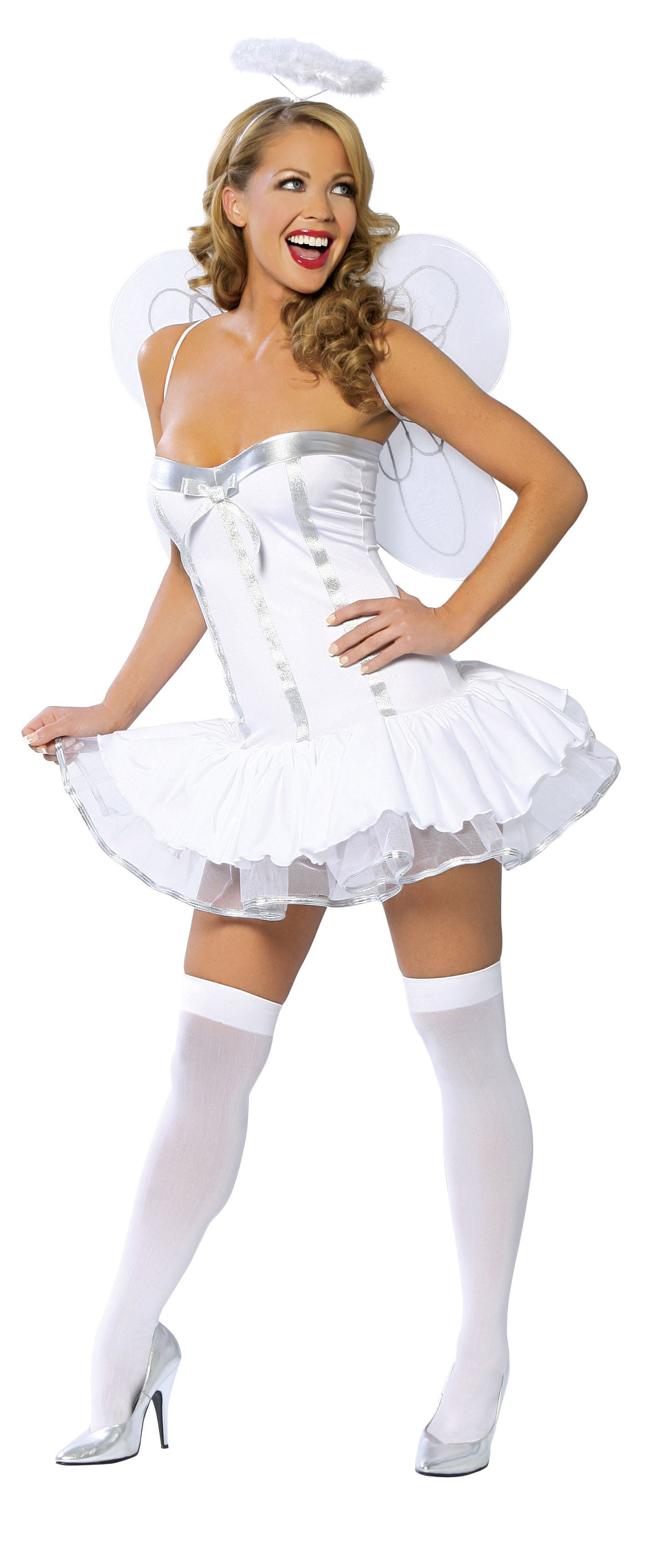 adult heaven sent deluxe women angel costume the costume land. Black Bedroom Furniture Sets. Home Design Ideas