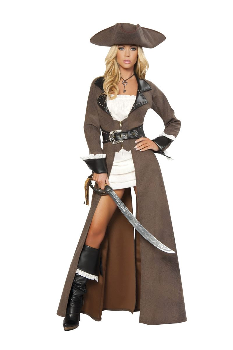 Adult Pirate Captain Woman Deluxe Costume | $137.99 | The ...