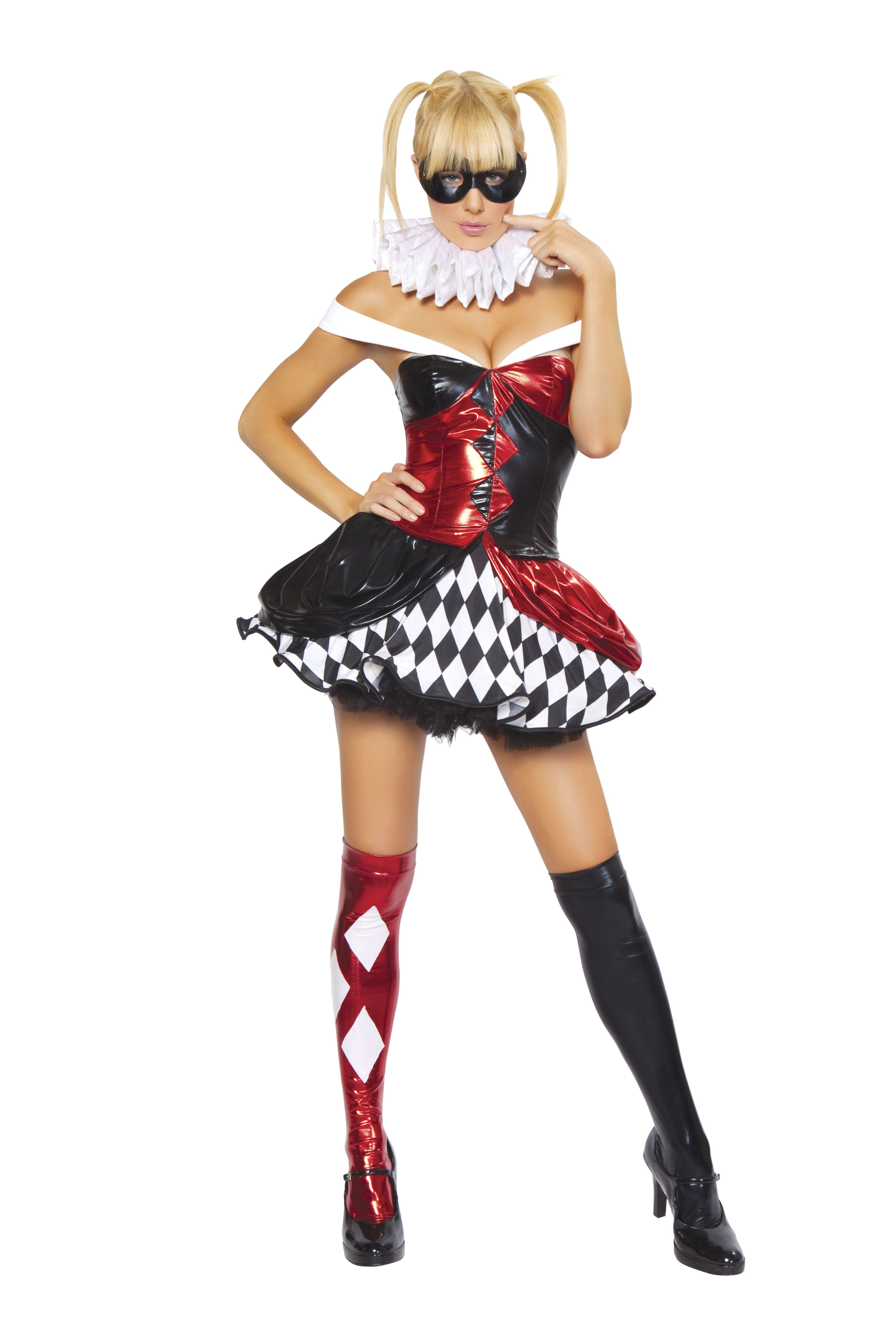 Adult sexy clown women costume the costume land for Diy halloween costumes for adult women