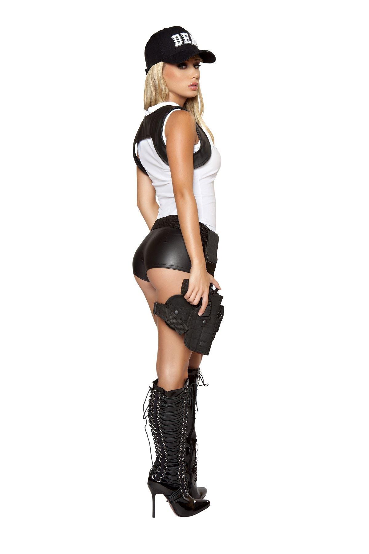 adult sexy dea damsel women police costume