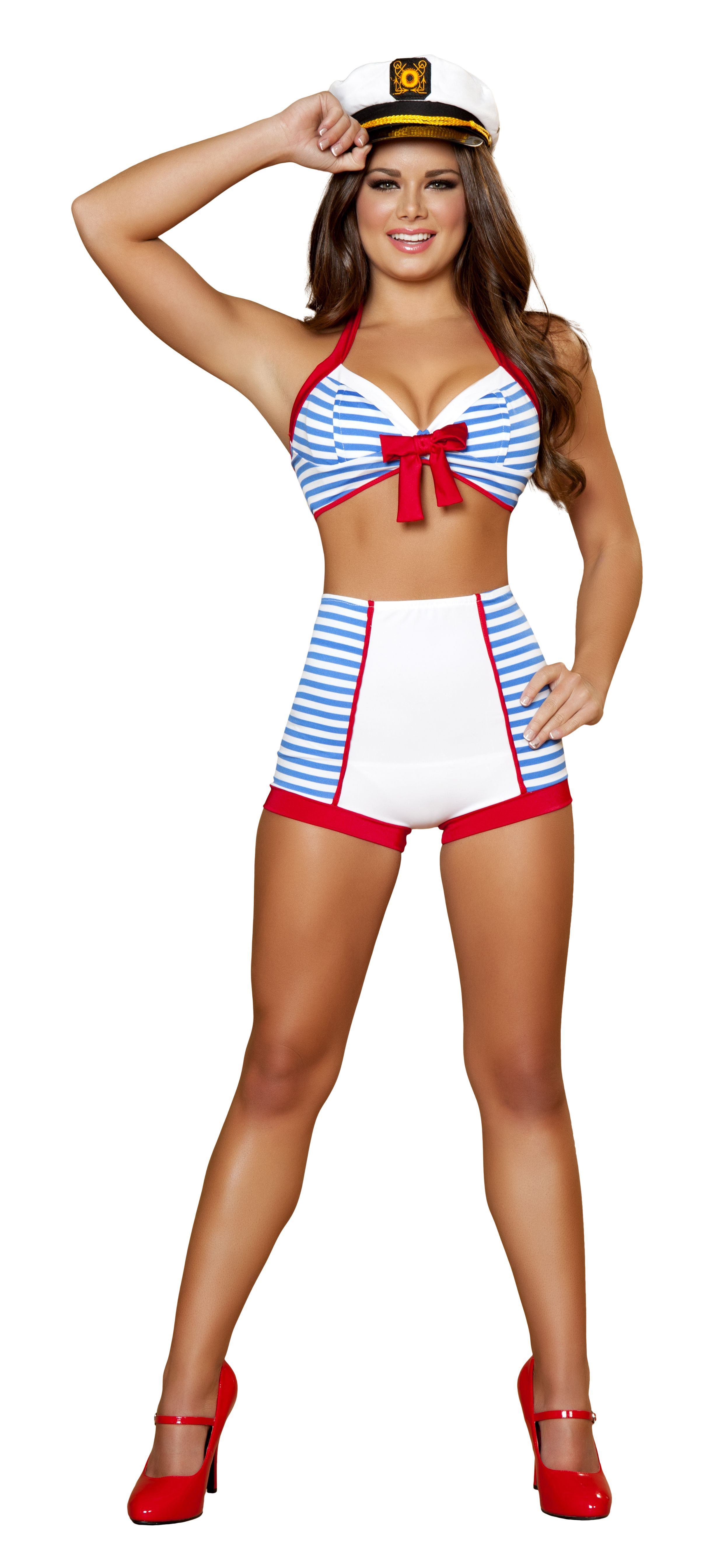 adult playful pinup sailor women costume | $52.99 | the costume land