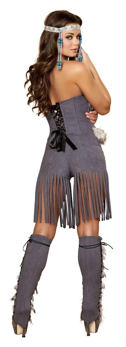 adult indian hottie woman deluxe native american costume - Halloween Native American