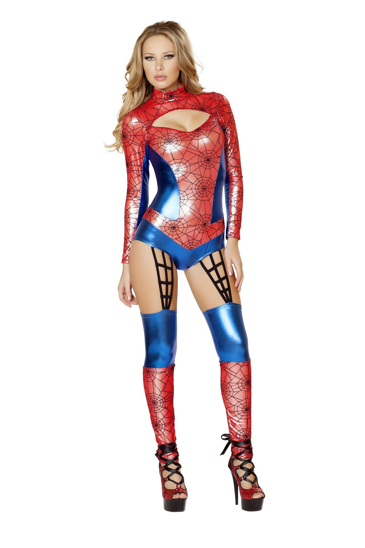 Adult Web Crawler Superhero Woman Costume ...  sc 1 st  The Costume Land & Adult Web Crawler Superhero Woman Costume | $104.99 | The Costume Land
