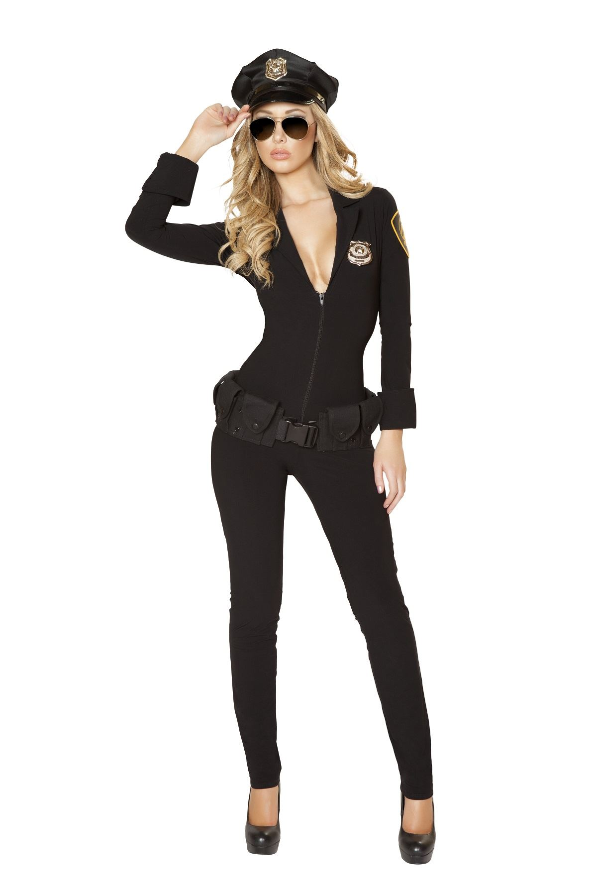 adult sexy law enforcer women police costume the costume land. Black Bedroom Furniture Sets. Home Design Ideas