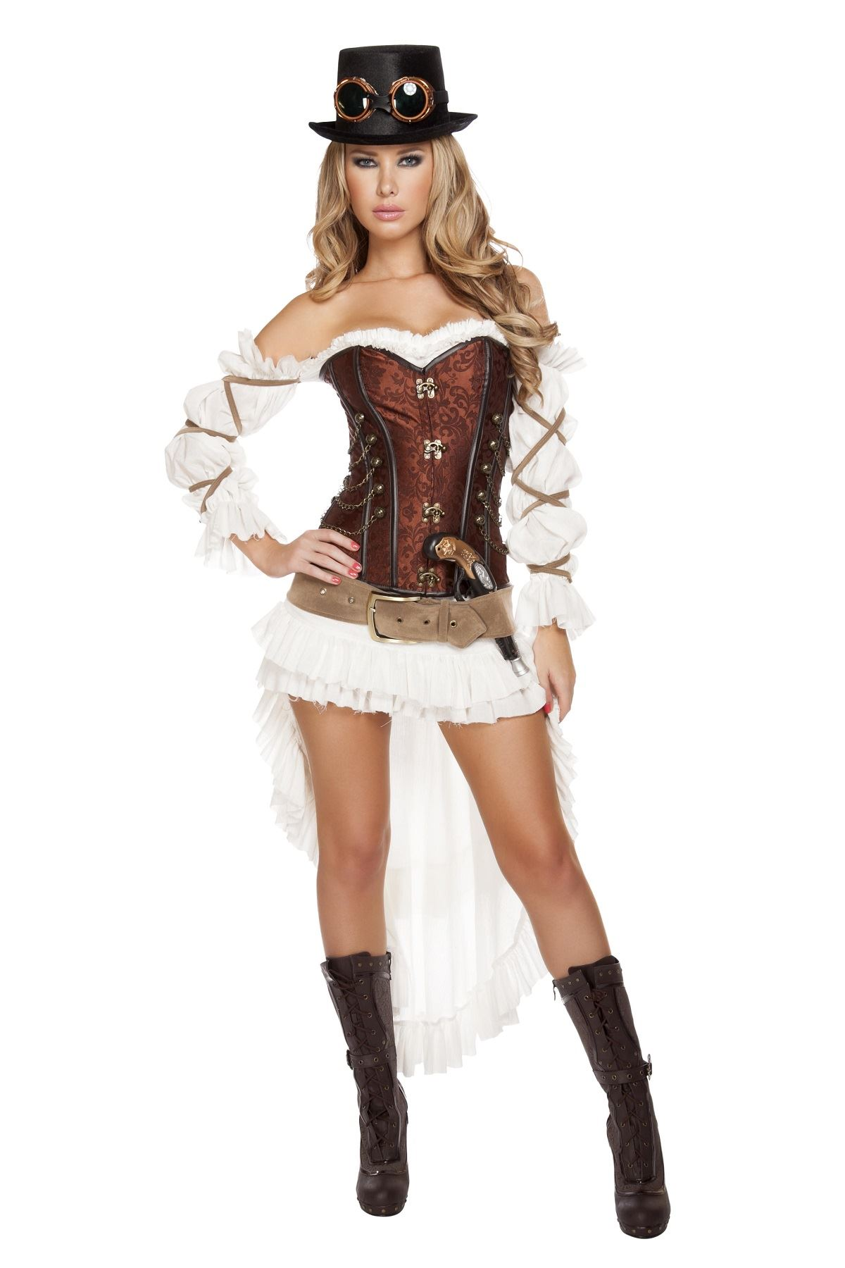 adult steampunk babe woman deluxe costume the costume land. Black Bedroom Furniture Sets. Home Design Ideas