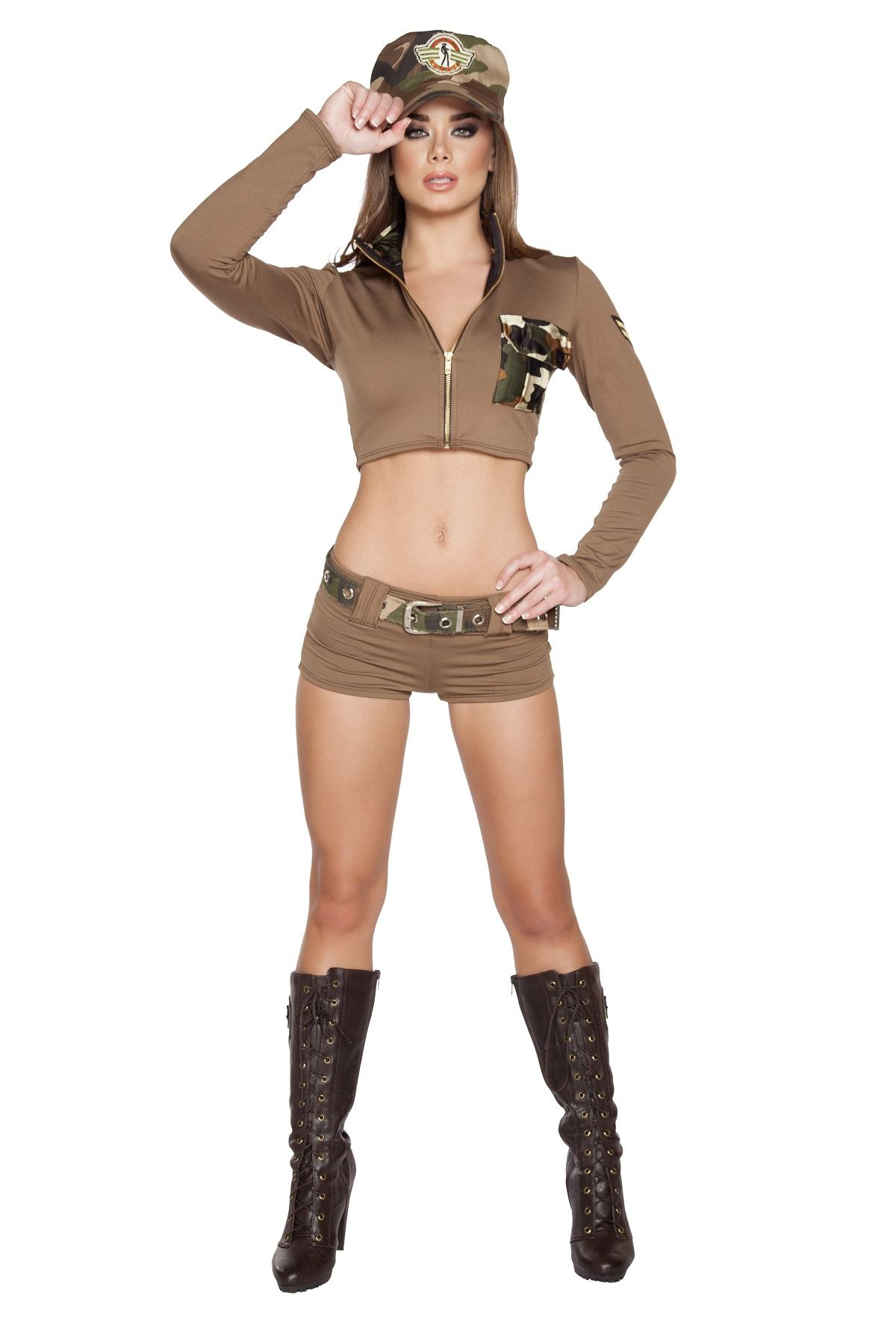 adult soldier babe woman army costume - Halloween Army Costume