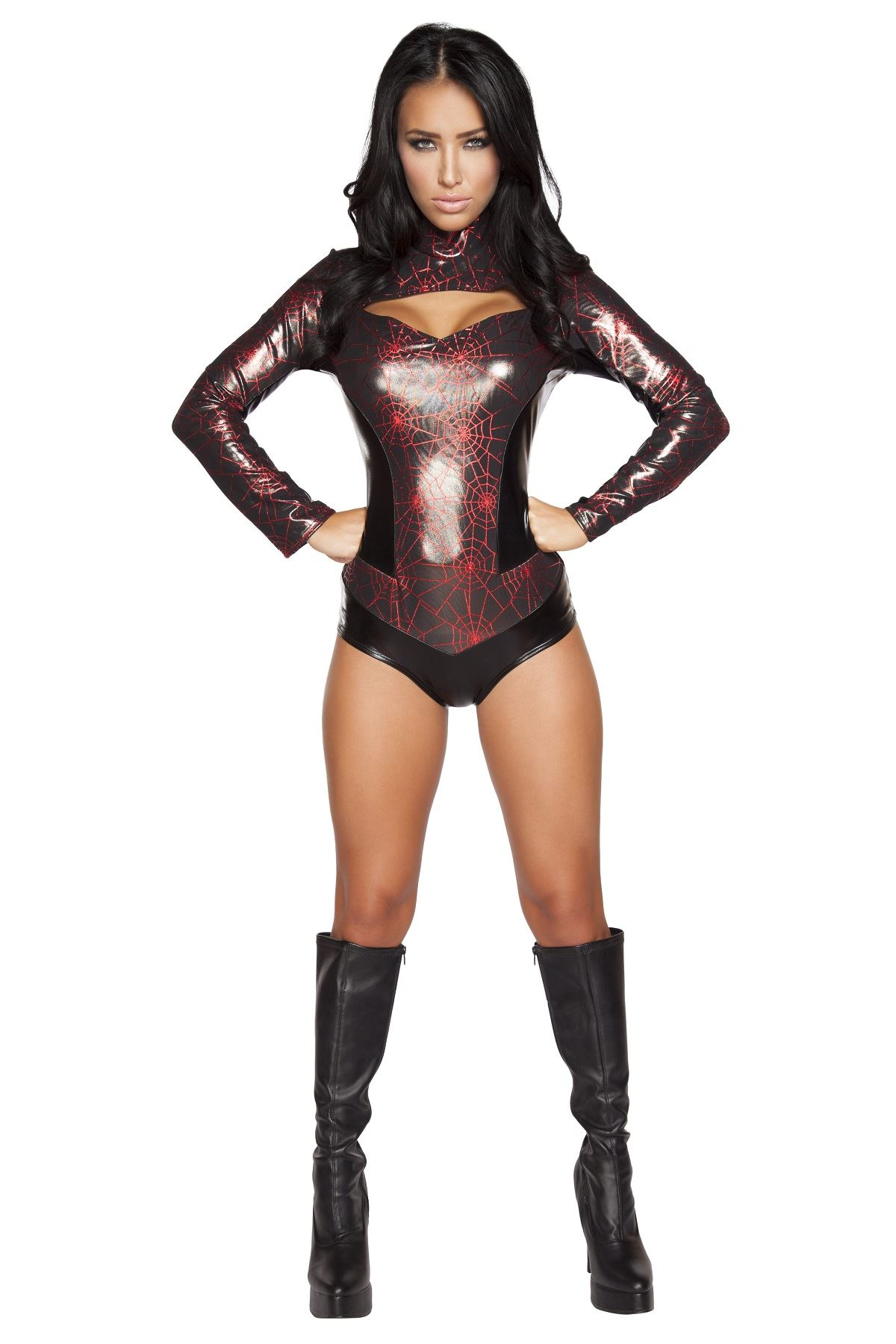 Adult Spider Print Webbed Warrior Woman Costume ...  sc 1 st  The Costume Land & Adult Spider Print Webbed Warrior Woman Costume | $68.99 | The ...