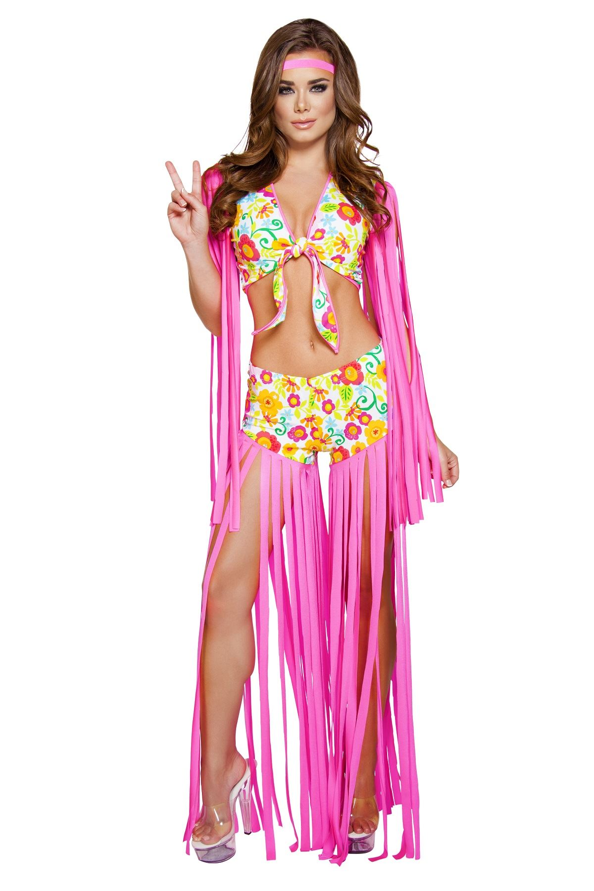 Adult Foxy Flower Child Woman Costume ...  sc 1 st  The Costume Land & Adult Foxy Flower Child Woman Costume | $67.99 | The Costume Land