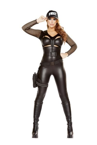 Adult Squad Leader Woman Swat Costume | $67.99 | The Costume Land
