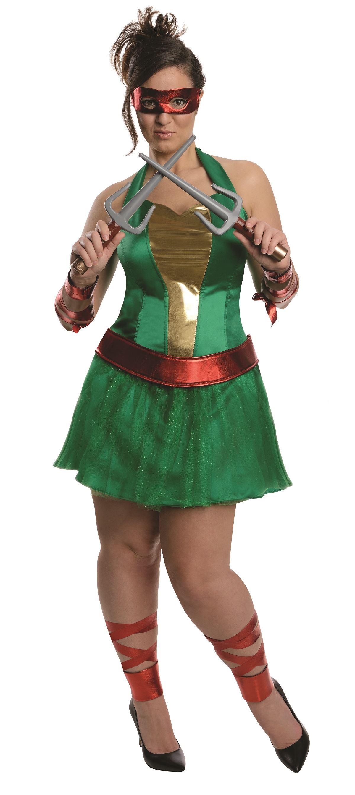 Plus Raphael Women Teenage Mutant Ninja Turtle Halloween Costume