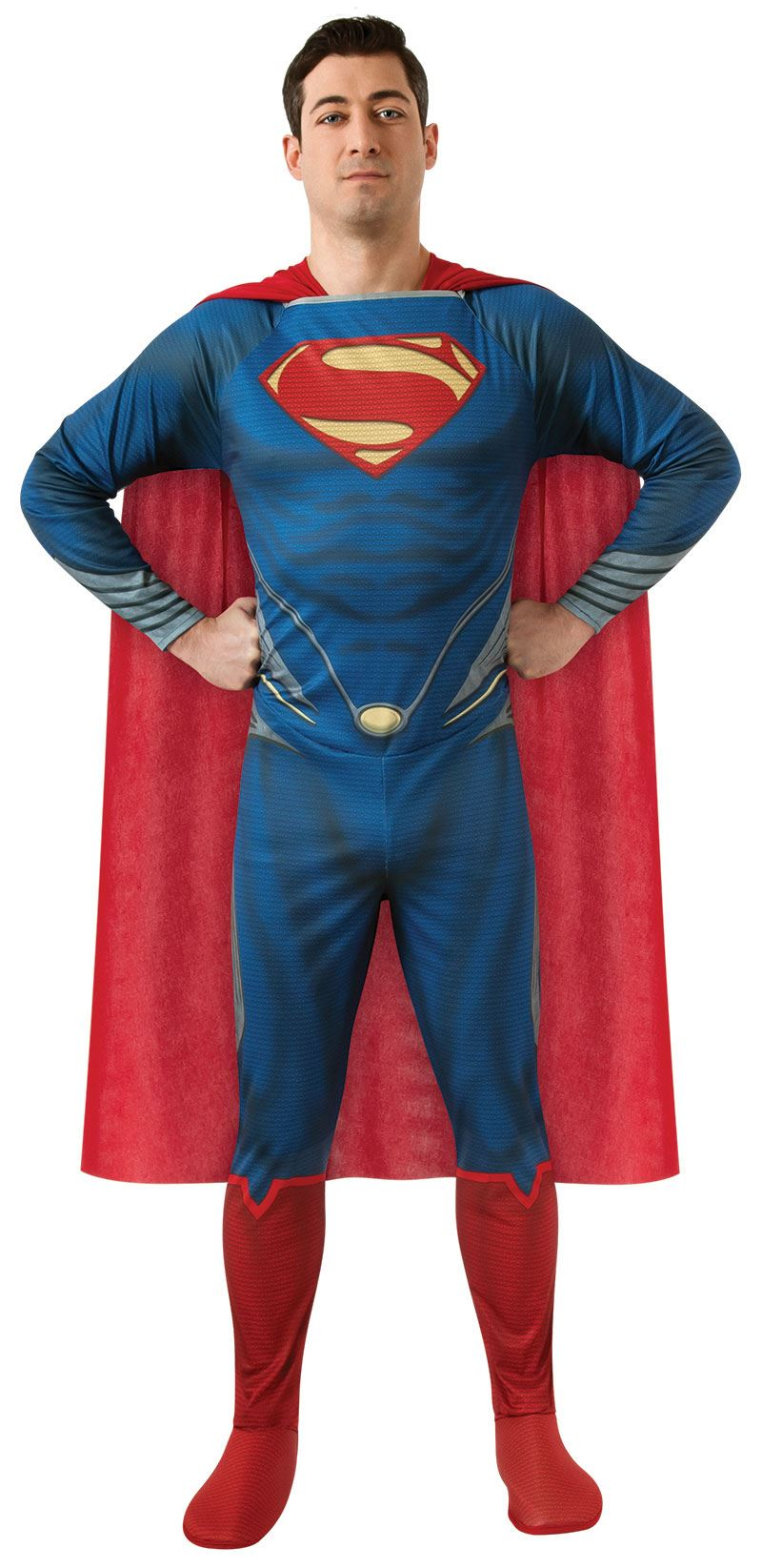 Adult Man Of Steel Plus Super Man Costume Men