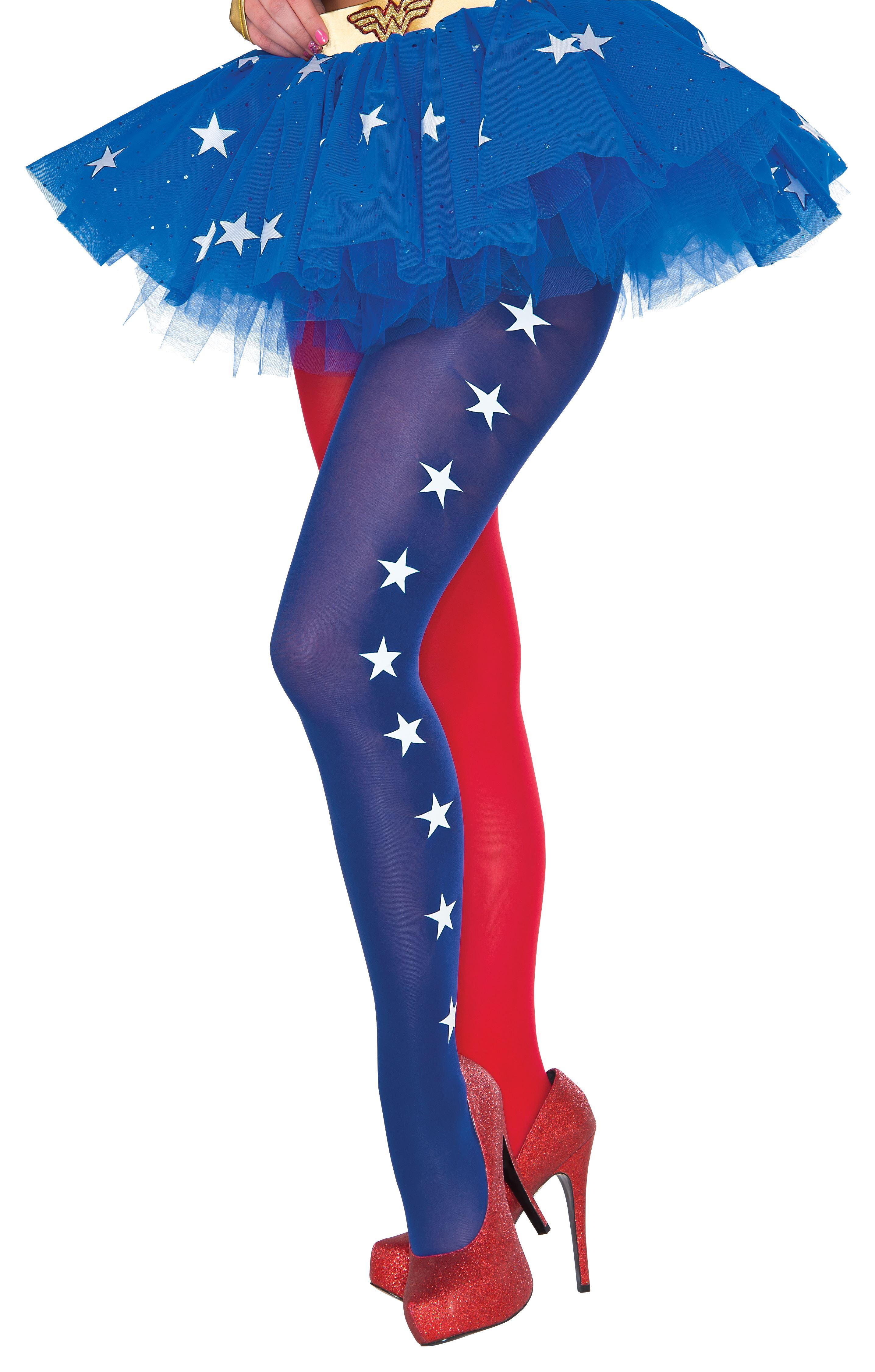 Wonder woman costume leggings-6746