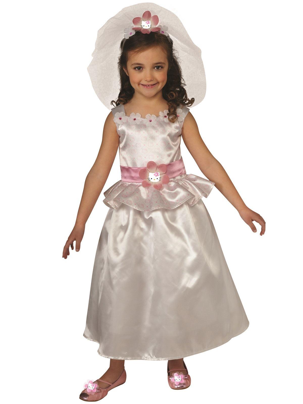 kids hello kitty girls bride costume