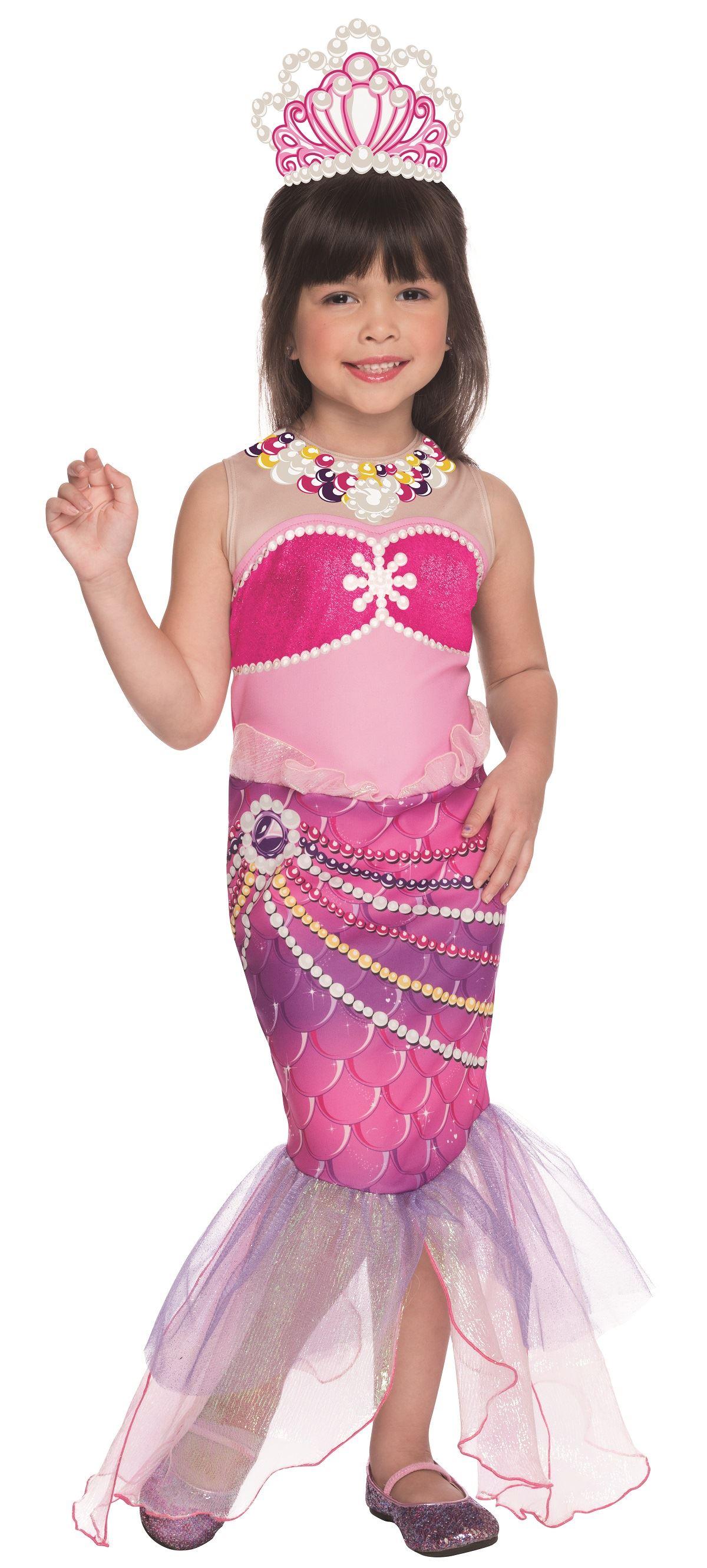 Kids Barbie The Pearl Princess Lumina Girls Costume 2299 The