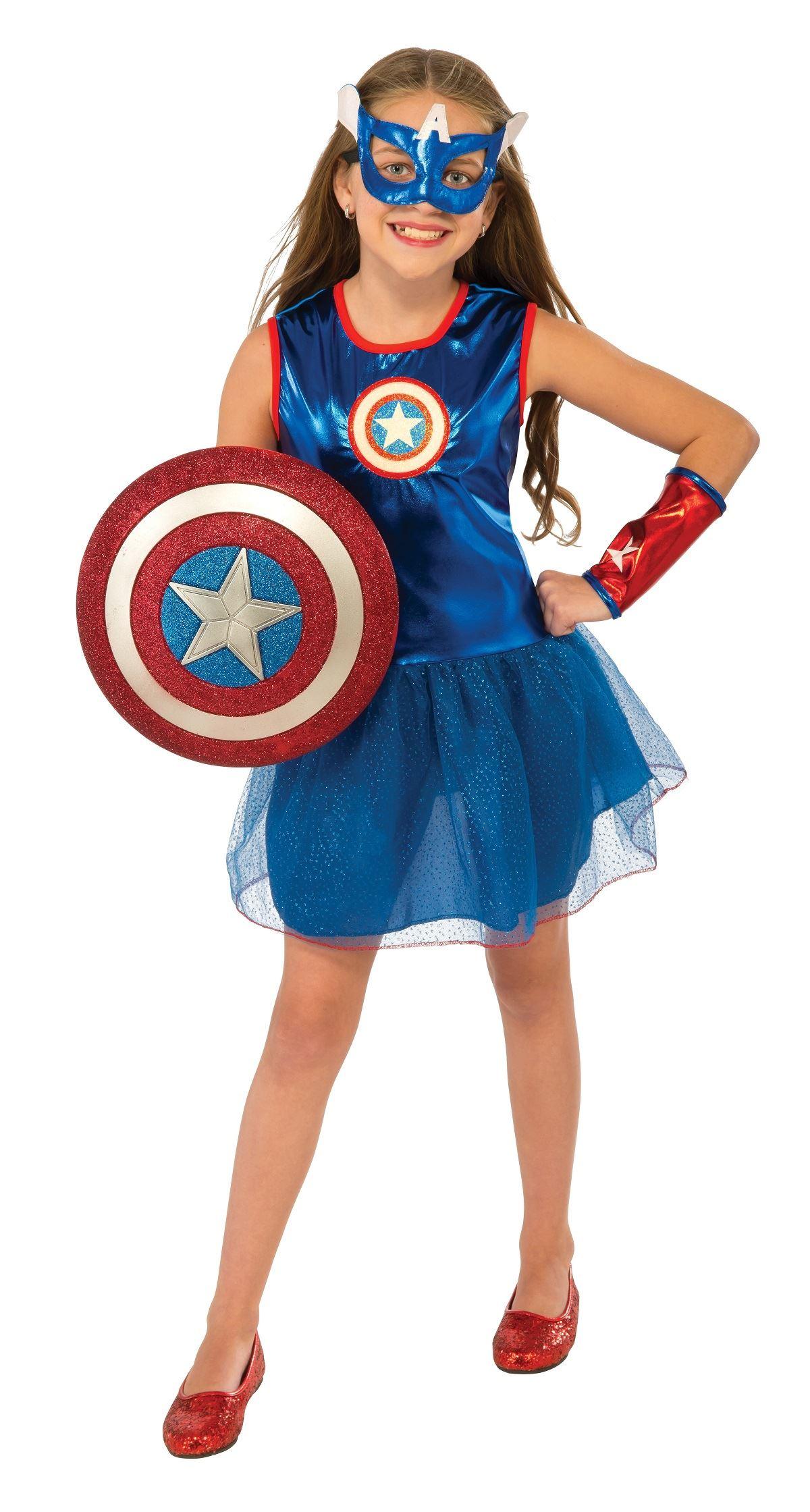 kids captain america girls costume | $32.99 | the costume land