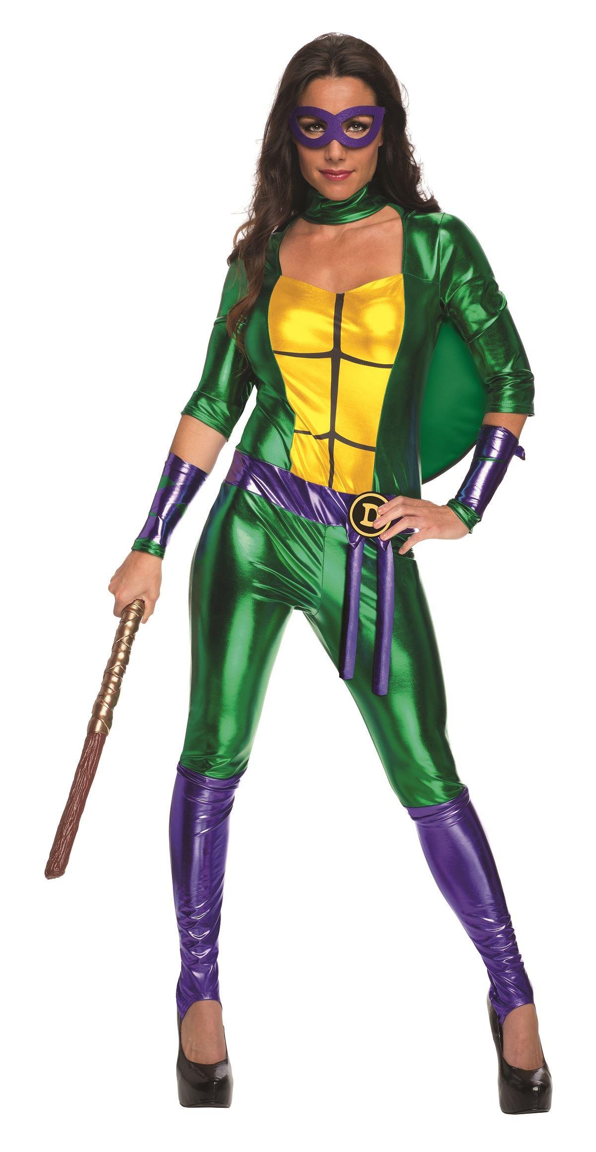 Adult Donatello Women Ninja Turtle Bodysuit Costume ...  sc 1 st  The Costume Land & Adult Donatello Women Ninja Turtle Bodysuit Costume | $57.99 | The ...
