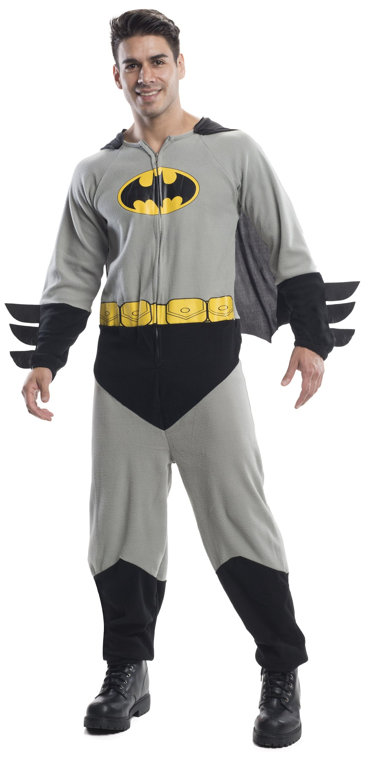 Adult Batman Onesie Men Costume  sc 1 st  The Costume Land & Adult Batman Onesie Men Costume | $49.99 | The Costume Land