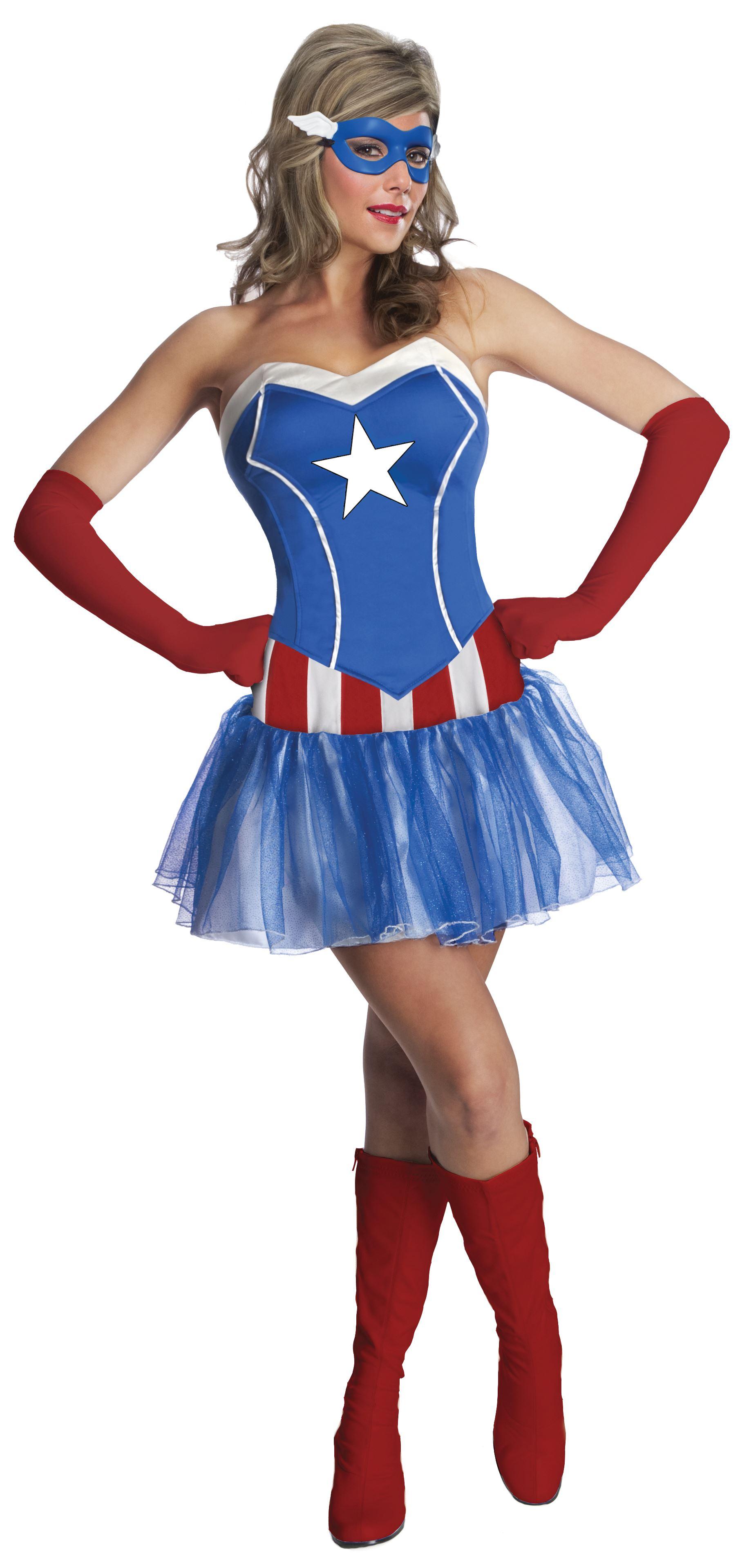 adult america dream woman captain america costume | $51.99 | the
