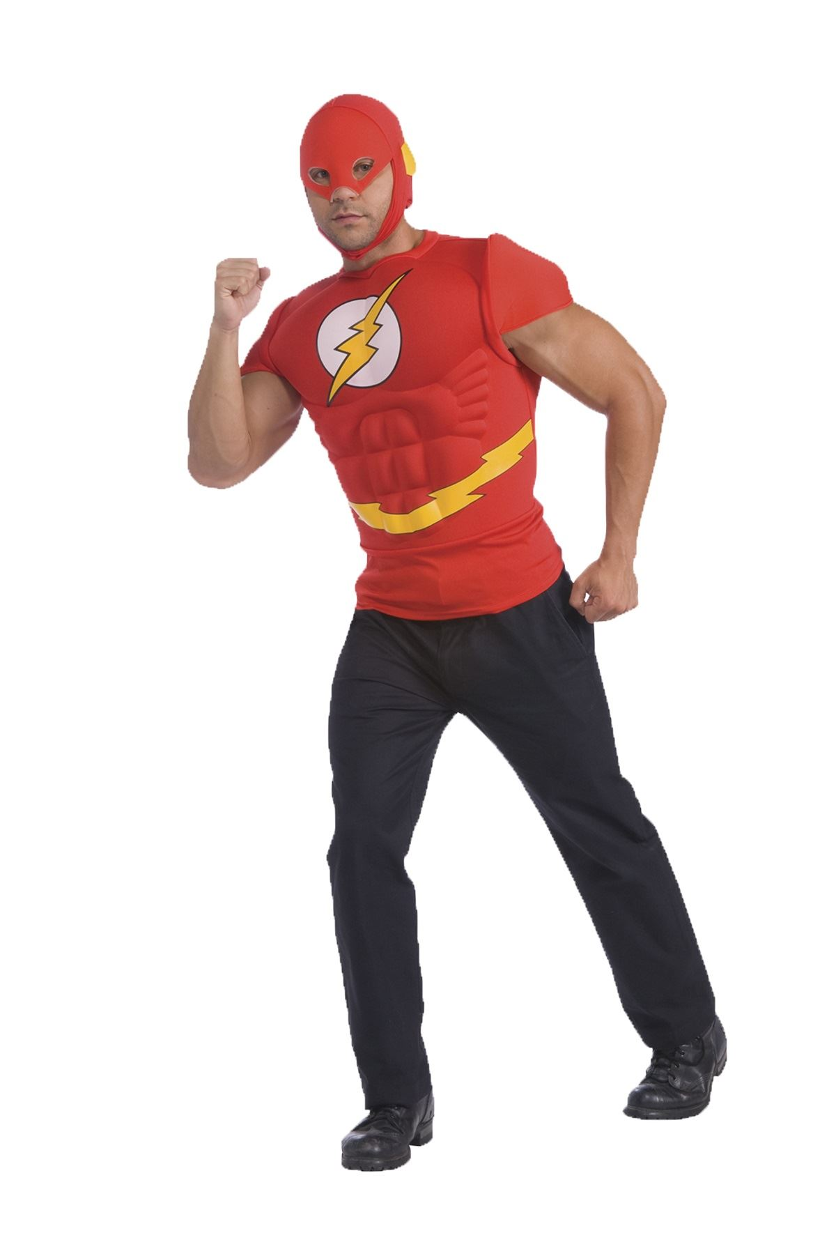 Adult The Flash Muscle Chest Men T Shirt Costume