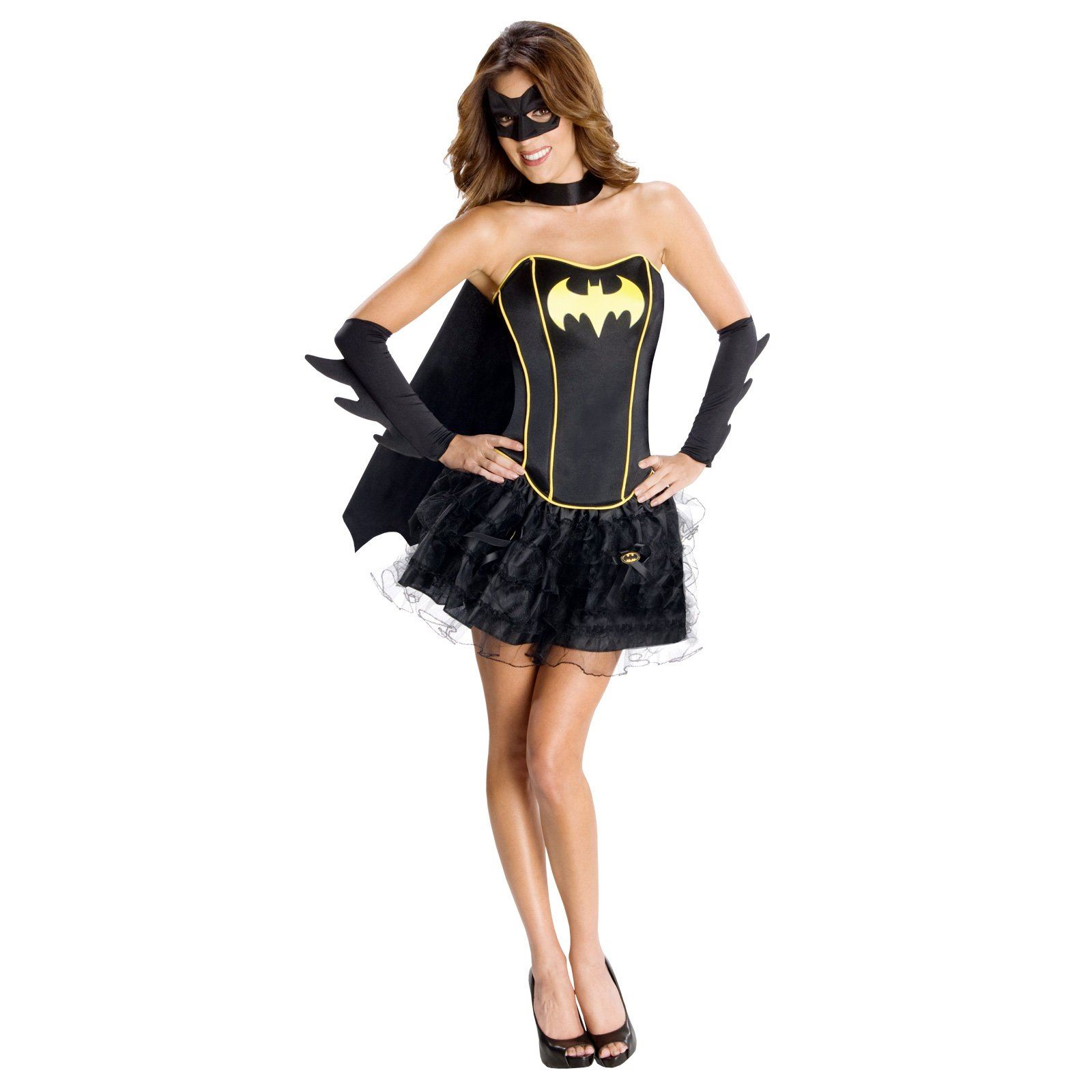 adult batgirl corset woman costume - Corsets Halloween Costumes