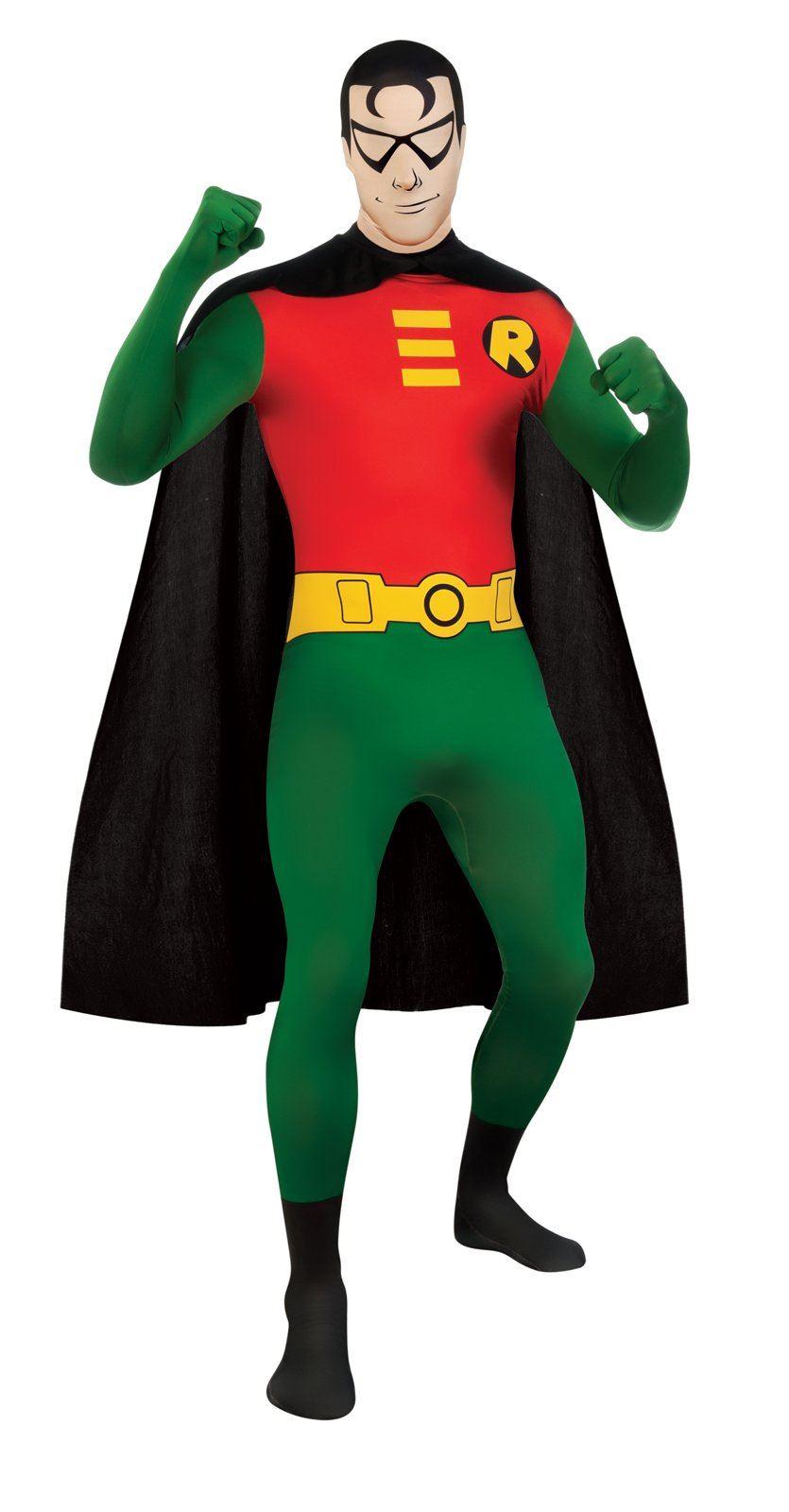 Robin DC Comics 2nd Skin Men Costume - Mens Superhero Costumes Halloween Costumes Buy Mens Superhero