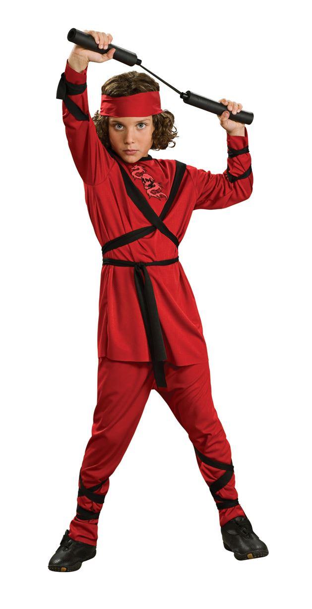 Kids Boys Red Ninja Costume 1399 The Costume Land  sc 1 st  Meningrey & Red Ninja Costumes - Meningrey