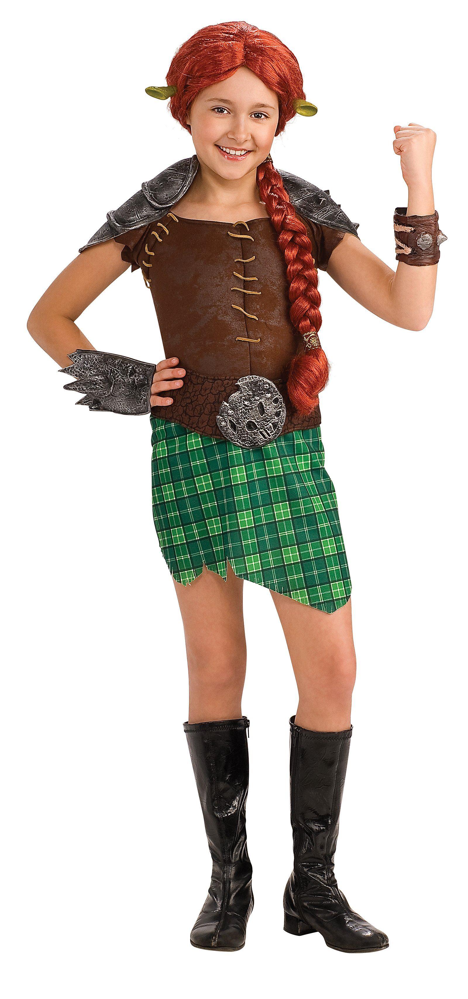 Kids Shrek Fiona Girls Costume