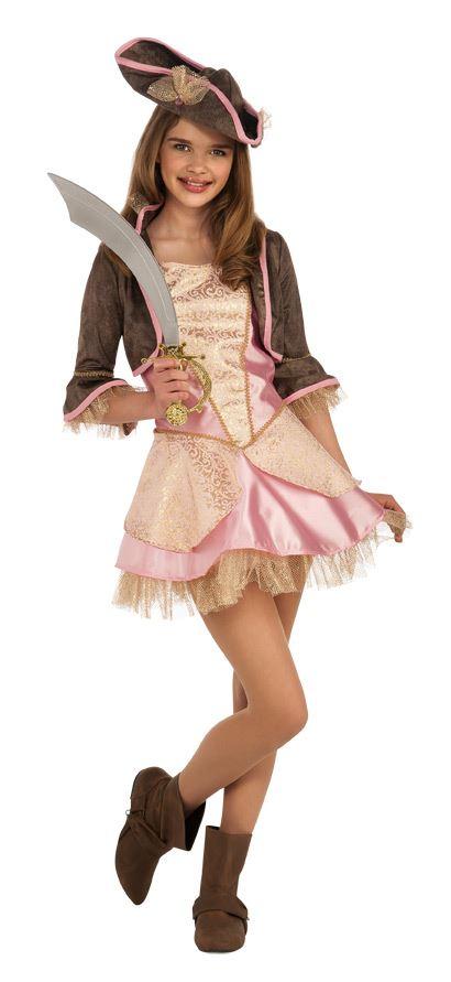 pale pink pirate girls tween buccaneer costume